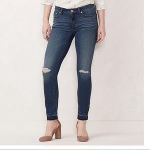 LC Lauren Conrad destructed skinny jeans 4